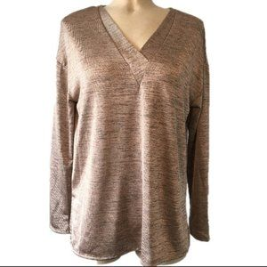 H By Halston Oversized Bronze Long Sleeve Top